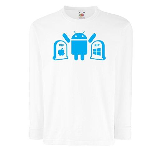 lepni.me kinder-T-shirt met lange mouwen De winnaar is Android - cadeau voor techfans