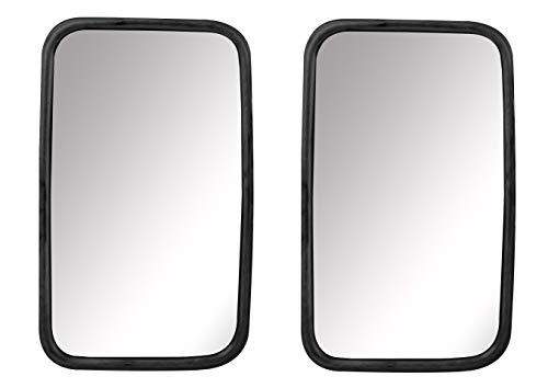 Juego de espejos universales para camión o bus, 2 unidades, 30 x 18 cm, con soporte flexible