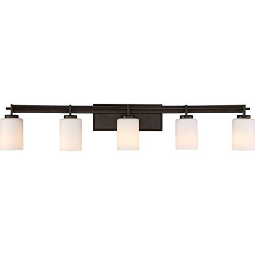 Quoizel TY8605WT Taylor Bath Vanity Wall Lighting, Lights 5-Light, 500 Watts, Western Bronze (8'H x 41'W)