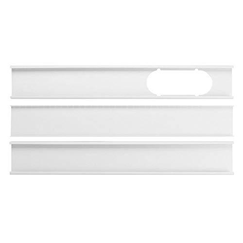 MOGOI Piastra per vetrino per condizionatore d'Aria Portatile, Adattatore per Finestra 3 Pezzi,80-190cm Kit di Ventosa per plastica di Ricambio Regolabile
