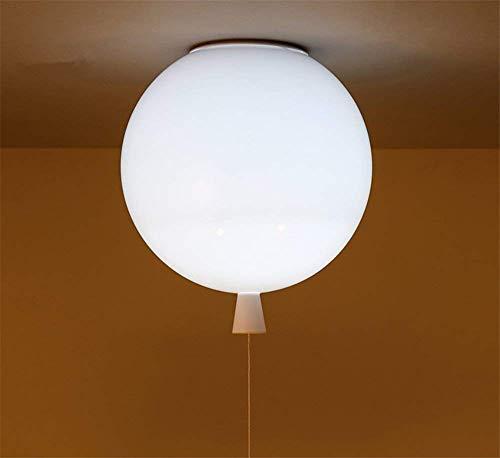 Modern Shadow Kinderplaats, Feest, bar, Festival - De Ballon Plafond lamp, 1XE27,40W, 5 Kleur (Geel, Wit, Oranje, rood en Groen) Wit [Energie Klasse A +] (Kleur : Groen)