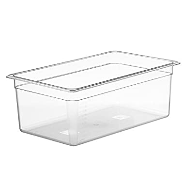 LIPAVI Sous Vide Container - Model C20-26 Quarts - 21 x 12.8 inch - Strong & Clear See-thought Polycarbonate - Matching L20 Rack and Tailored Lids for virtually every circulator sold separately.