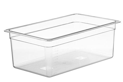 LIPAVI – Contenedor Sous Vide – Varios tamaños disponibles 25 Litre - Party Size - C20 transparente