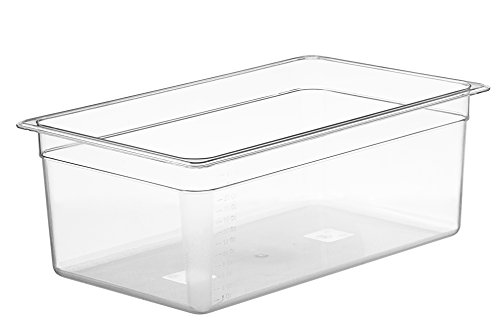 LIPAVI Sous Vide Container - Model C20 - 26 Quarts - 21 x 12.8 inch - Strong & Clear See-thought Polycarbonate -...