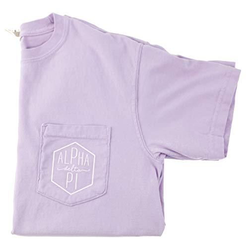 Alpha Delta Pi Hexagon T-Shirt (Small) Orchid