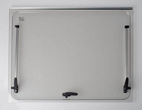 Vetro di ricambio 668x332 per finestra camper Seitz 700x400 - colore Grigio - compresi accessori