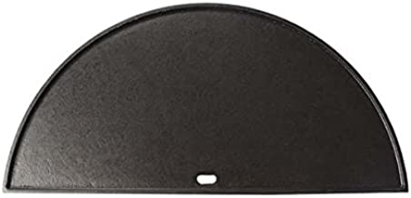 Dracarys Cast Iron Griddle,Half Moon Cast Iron Griddle for Kamado Grills(21.5 inch)