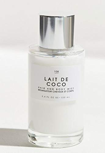 Gourmand Lait De Coco Hair + Body Mist 3.4 Fl.Oz! Blend Of Bergamot, Vanilla Praline And Creamy Coconut! Perfumed Hair & Body Mist For All Day Long-Lasting Freshness! Choose Your Scent! (Lait De Coco)