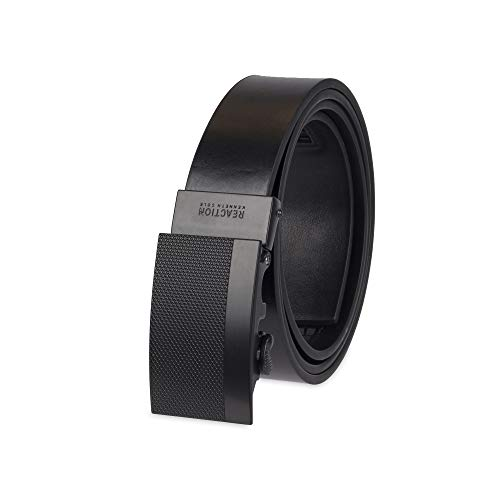 Kenneth Cole REACTION Men's Perfect Fit Adjustable Click Belt, black matte, Large (38-40)