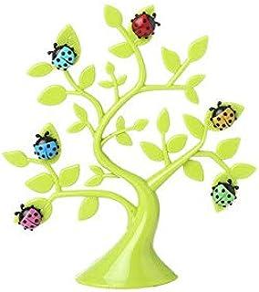 Figurines & Miniatures - Creative Lucky Tree Ladybug Photo Memo Clip Desktop Decor Figurines Refrigerator Microwave Sticke...