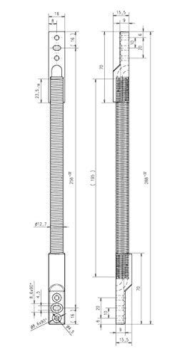 Assa Abloy effeff Kabelübergang 10312-11-00 Gehäuse Netzanschlussleitung 4042203335554