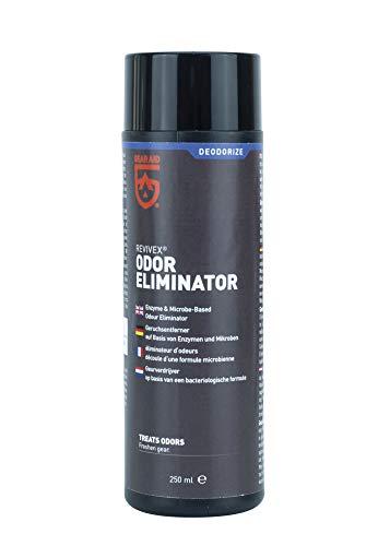 MiraZyme Odor Eliminator Geruchsentferner für chemische Entfernung von Duft, Gestank, Geruch, Moder von Textilien Sportbekleidung Taucheranzug Neopren Tauchen Zelt 250ml Geruchsvernichter
