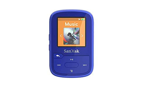 SanDisk Clip Sport Plus Wearable MP3 Player - Azul