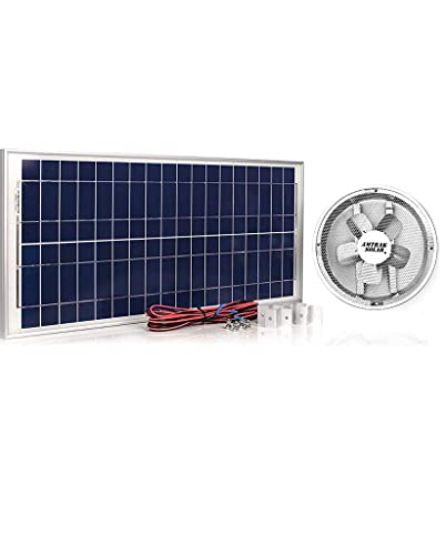 """Amtrak Solar Powerful 50-Watt Galvanized Steel New Upgraded 14"""" Fan Housing, Solar Attic Fan Quietly Cools, Ventilates Exhaust Your House, Garage or RV and Protects Against Moisture Build-up"""