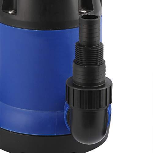 Bomba Sumergible, Bomba de Agua Sumergible, con Interruptor de Flotador 2100GPH Levante 7 Metros para Riego 8000L / H(AC230V European plug, pink)