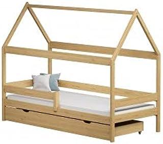 Children's Beds Home - Lit simple en forme de maison - Teddy - Lit simple - Teddy - 140 x 80 - Naturel - Grand lit simple ...
