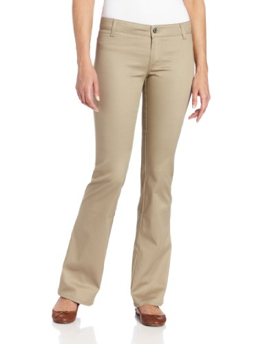 Dickies Girl Juniors' Worker Bootcut Pants, Khaki