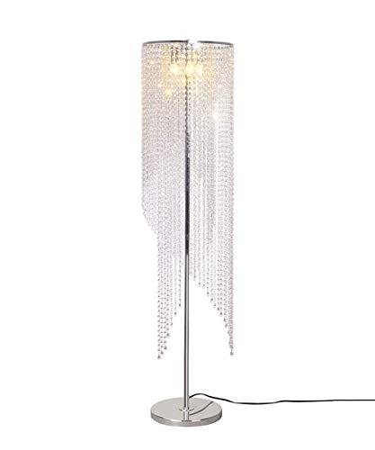 House Finish HUACANG Raindrop Floor Crystal Lamp Chrome QrBexoWCEd