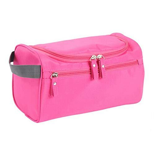 Kissherely Hanging Cosmetic Organizer Bag Portable Waterproof Travel Wash Sac de grande capacité Maquillage Trousse de toilette pour hommes et femmes (Rose Rouge)