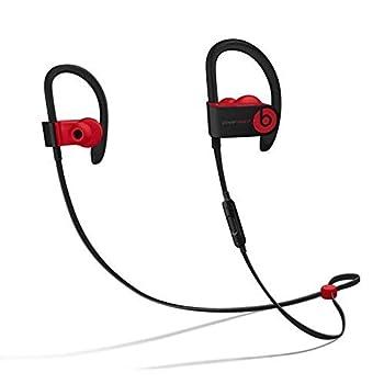 beats Powerbeats3 Wireless Ear-Hook Headphones Decade Collection Black/Red MRQ92  Renewed