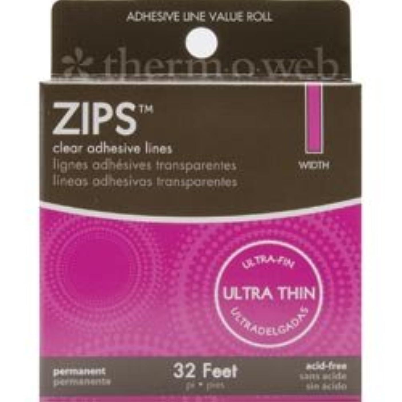 Bulk Buy: Thermoweb Zips Adhesive Lines Memory 1/8