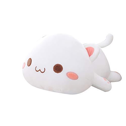 0Miaxudh Plüschtier, Kawaii liegend Katze Tier Puppe, Plüsch Kissen Kissen, Kinder Spielzeug Geschenk gefüllt 1# 50cm