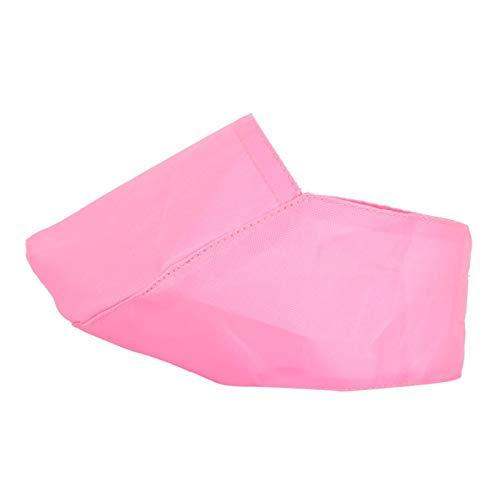 XiangXin Cubierta de bozal Ojos Lavado de la Boca Suministros de Limpieza Cubierta de Nylon para bozal de Gato, Cubierta de bozal de Gato Rosa, Paño de Nylon para Mascotas Perros(M)
