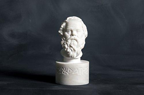 Greek Marble Art Estatua mármol Busto filósofo Sócrates