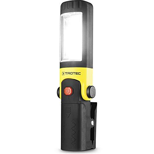 TROTEC Stab-LED-Arbeitsleuchte PWLS 01-3 Licht 8 Stunden Leuchtdauer IPX4 12.000 K 220 lm / 3W 3 Lichtmodi Taschenlampe