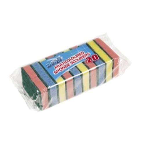 Pack of 20 Sponge Scourer Washing Up Sponges