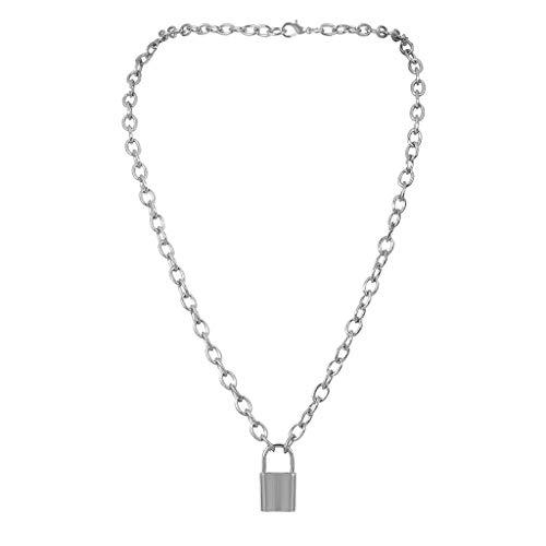 hunpta Women's Lady Fashion Necklace,NEW Lock Pendant Padlock Charm Necklace Chain Women Jewelry Gift (Silver)