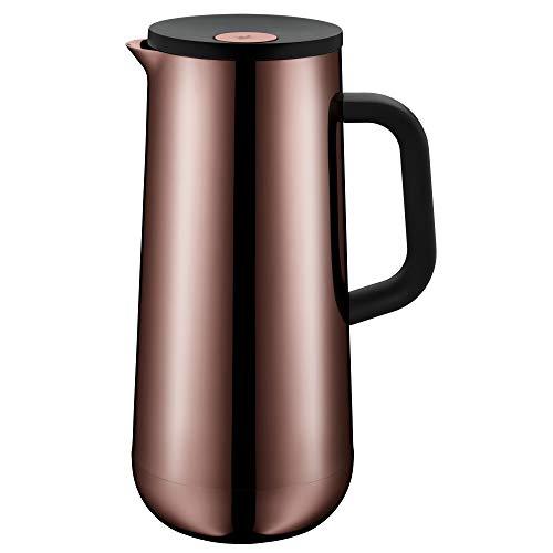 WMF Impulse Thermoskanne 1l, Isolierkanne für Kaffee oder Tee, Druckverschluss, hält Getränke 24h kalt & warm, vintage kupfer