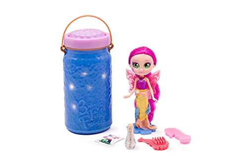 Bright Fairy Friends BFF Mermaid Doll with Color Change Wings, 4 Surprise Mermaid Accessories, a Motion Activated Light up Jar That Works as a Nightlight for Kids, Gifts for Kids 3 Years and Older