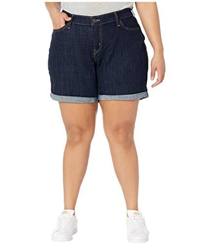 Levi's Women's Plus-Size New Shorts, Royal Rinse, 44 (US 24)