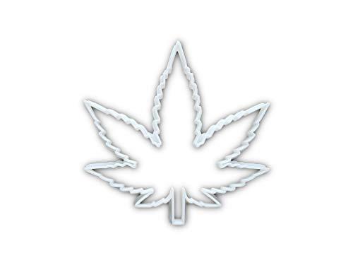 Cannabisblatt Ganja Hanf Pflanze Form Keks Ausstecher (Teig Biscuit Medical Marihuana) – Standard/Medium