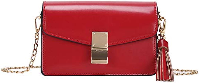 WANGZHAO Single Shoulder Bag, Satchel Bag, Ladies' Casual Fashion Tassel Bag Lady