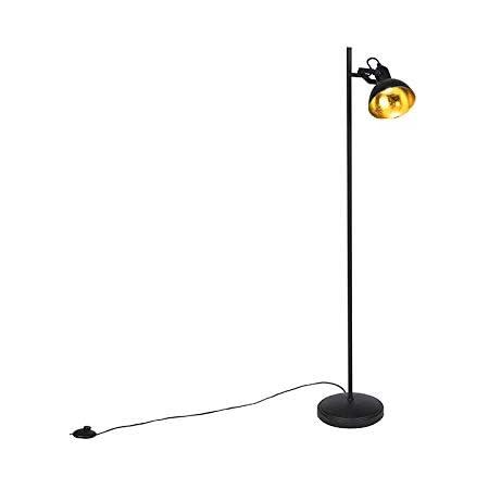 Qazqa Lampadaire | Lampe sur pied Industriel - Tommy Fl Lampe Noir - E14 - Convient pour LED - 1 x 28 Watt