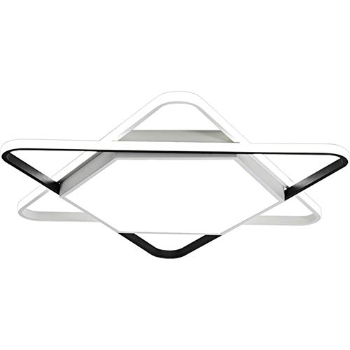 Lámpara de techo con pantalla monocroma de color blanco LED de acrílico, hierro forjado, adecuada para dormitorio, patio, pasillo, salón