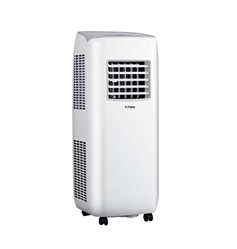 【Limited Time Deal】Titan 10000 BTU Compact Portable Air Conditioner, Remote Control, Dehumidifier and Cooling Fan for Rooms up to 350 sq ft. Small & Powerful!