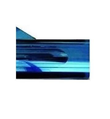 Solux Bandeau Pare-Soleil pour Pare-Brise, Film 150x20 cm à Poser, opacité dégradée de Couleur Bleue