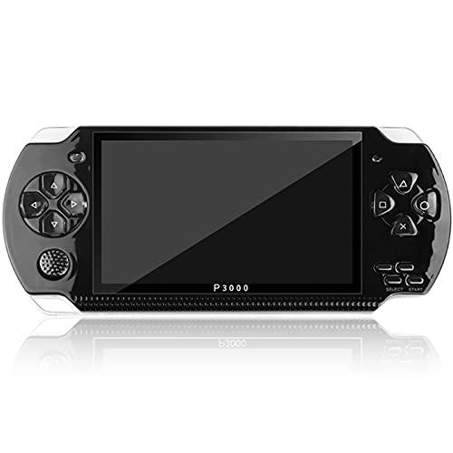XUANWEI Console de jogos portátil portátil de 4,3 polegadas, console de videogame com tela HD, leitor de MP5 suporta jogos de 128 bits, 8 GB de memória