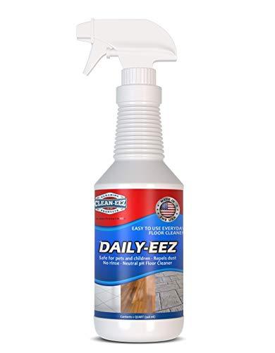 Daily Wood, Laminate, Tile, Stone Floor Cleaner from Clean-EEZ (The Floor Guys). Streak Free Maintenance Cleaner Spray. Removes Footprints, Dirt, Spills, Repels Dust. 32 oz. RTU