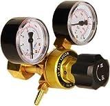 HUKOER Regulador de Presión de Argón CO2, Soldadura Mig Tig, 0-315 Bar para Botella de Gas con Salida W21.8
