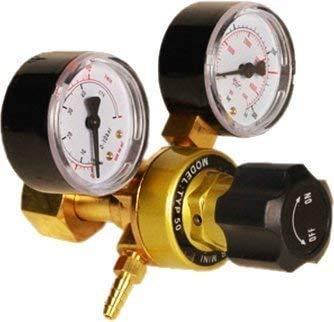 HUKOER Regulador de Presión de Argón CO2, Soldadura Mig Ti
