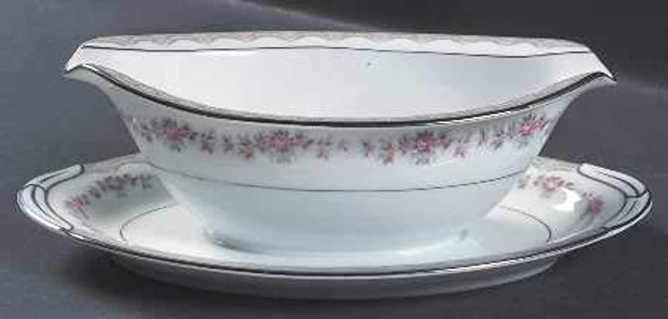 Noritake Glenwood Gravy Boat and attached underplate (5770)