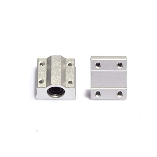 XBaofu 4PCS SC6UU / SC8UU / SC10UU / SC12UU Bolas de Movimiento Lineal cojinete de Deslizamiento Pieza de la Impresora rodamiento Lineal Eje for CNC for 3D (tamaño : SC6UU)