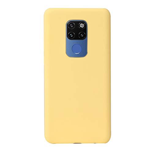 Botongda Huawei Mate 20 X 5G Hülle,Weiche silikonhülle Anti-Drop & Anti-kollision Silikon Handyhülle,mit Mikrofasertuch-Futterkissen für Huawei Mate 20 X 5G-Gelb