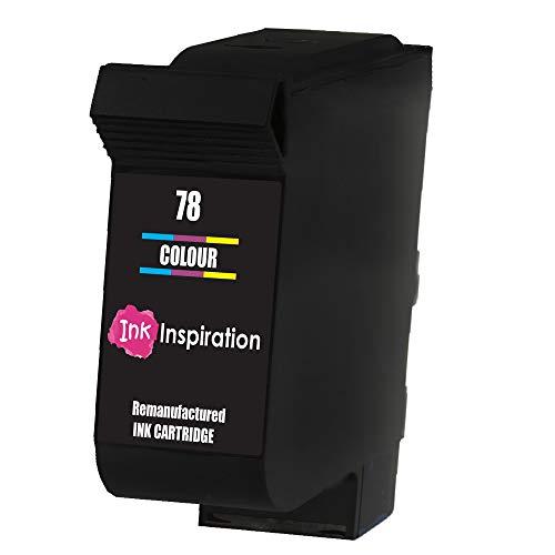 Tricolor INK INSPIRATION Cartucho de Tinta Remanufacturado para HP 78 Deskjet 3810 3820 815c 916c 940c 948c Officejet 5110 V30 V40 V45 PSC 2120 700 750 760 900 950 Copier 310 Fax 1230