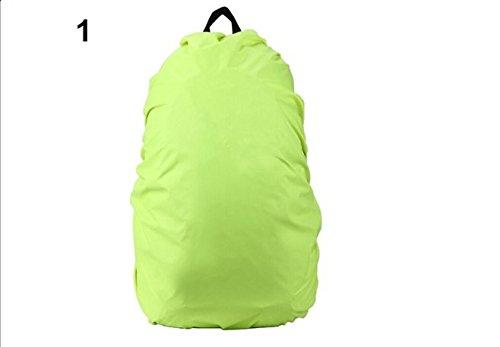 Moaeuro Candy color e cuciture impermeabile antipioggia pioggia copertura antipolvere zaino per campeggio escursioni, Green