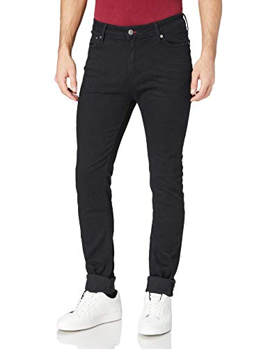 Teddy Smith Flash Skinny Comfort Used Jeans, Noir Clean, 32W Mens
